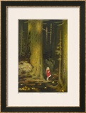 Little Girl in Big Forest Prints by Hugo Grimm