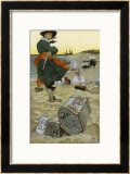 Captain Kidd Buries His Treasure Prints by Howard Pyle
