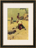 Pirates Disputing Who Shall be Captain Print by Howard Pyle