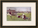 Rugby Try Scored 1897 Art by Ernest Prater