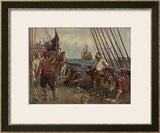 Pirate Crew Defy a Naval Warship Posters by Bernard F. Gribble