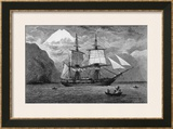 "Hms ""Beagle"" the Ship in Which Charles Darwin Sailed in the Straits of Magellan Posters by R.t. Pritchett"