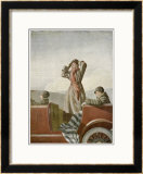 Three Women in a Car Prints by O. Lenbecke