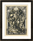 Satan Presides at the Sabbat Attended by Demons in Human or Animal Shapes Prints by Bernard Zuber