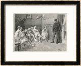Recruits Await Their Medical Examination Print by Joseph Straka
