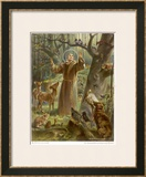 Saint Francis of Assisi, Preaching to the Animals Posters by Hans Stubenrauch