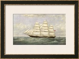 British Sailing Clipper for the China Tea Trade Print by Josiah Taylor