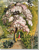 In a Shoreham Garden Stretched Canvas Print by Samuel Palmer