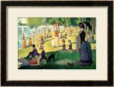 Tarde de Domingo na Ilha de Grande Jatte, c.1886 Arte por Georges Seurat