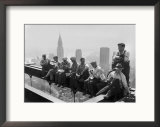Construction Workers Take a Lunch Break on a Steel Beam Atop the RCA Building at Rockefeller Center Framed Photographic Print