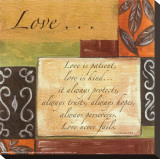 Words to Live By: Love Stretched Canvas Print by Debbie DeWitt