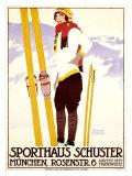 Sporthaus Schuster Giclee Print by Johann B. Maier