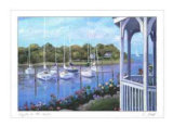 Gazebo on the Harbor Affiches par Carol Saxe