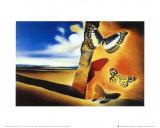 Landschap met vlinders Posters van Salvador Dalí