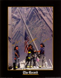 Sapeurs-pompiers hissant le drapeau au World Trade Center Posters par Thomas E. Franklin