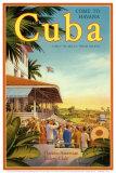 Cuba and American Jockey Affiches par Kerne Erickson