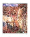 La escalera Láminas por Claude Monet