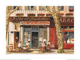 Cafe de la Fontaine Prints by Ambro Zandos