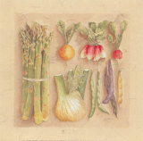 Vegetables I, Asparagus Prints by Laurence David