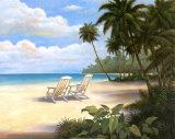 Tropische Glückseligkeit Poster von T. C. Chiu