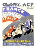 Grand Prix de l'A.C.F./1935 Reproduction procédé giclée par Geo Ham