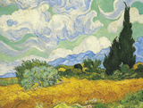 Cornfield with Cypresses Art by Vincent van Gogh