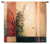 Hollyhock Garden II Wall Tapestry by Don Li-Leger