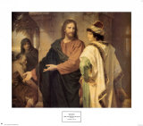 Cristo y el joven soberano Láminas por Heinrich Hofmann