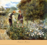Picking Flowers Posters by Pierre-Auguste Renoir