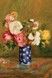 Roses in a Vase Plakater af Pierre-Auguste Renoir
