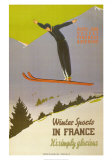 Winter Sports in France Prints by  Naurac