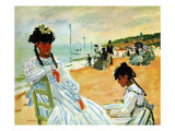 Camille at the Beach Giclee Print by Claude Monet