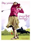 Golf in Germany Giclee Print by Ludwig Hohlwein