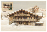 Chalet l'Hiver Art by Laurence David