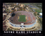 Notre Dame Stadium Plakat af Mike Smith
