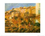 Terraces in Cagnes, c.1905 Prints by Pierre-Auguste Renoir