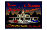 Stans Night Diner Giclee Print