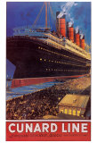 Compagnie de croisi&#232;res Cunard Affiche