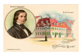 Robert Schumann & Birthplace Art Print
