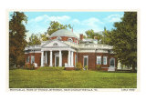 Monticello, home of Thomas Jefferson. Art Print