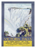 Cunard Line, Victoria Falls, 1931 Gicle-tryk af W. G. Bevington