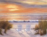 Paradise Sunset Art by Diane Romanello