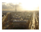 Eiffel Tower Above the Grand Boulevards of Paris Photographic Print by Sadie Jernigan