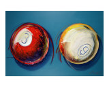 Two Pool Balls Giclee Print by Chad Maxwell