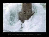 Fyr i stormen, la Jument|Phares dans la Tempete, la Jument Affischer av Jean Guichard