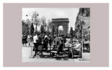 Café on the Champs Elysees, Paris, 1960 Poster