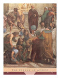 The School of Athens, c.1511 (detail) Prints by Raphael