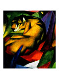 The Tiger Gicléetryck av Franz Marc