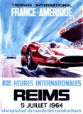 12 Heures Internationale, Reims, 1964 Reproduction procédé giclée par James Blank