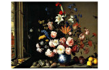 Dutch Vase of Flowers by a Window Giclee Print by Balthasar van der Ast